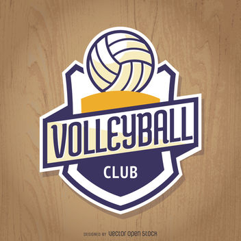 Volleyball club insignia - Free vector #363447