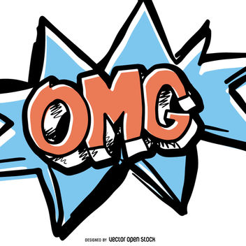 OMG comic sound effect - vector gratuit #363467