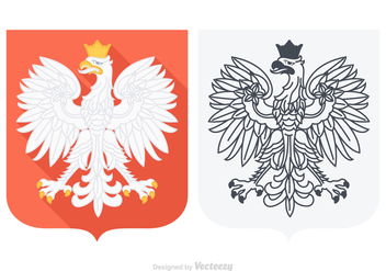 Free Vector Polish Eagle - vector #363557 gratis