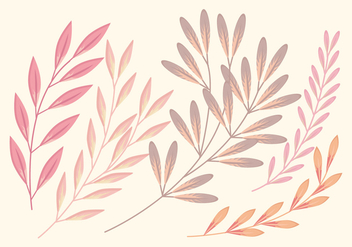 Soft Vector Branch Set - Kostenloses vector #363577