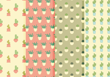 Vector Cacti Patterns - vector gratuit #363597