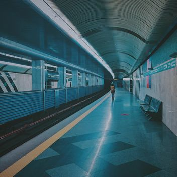 Alone passenger at subway station - Free image #363687