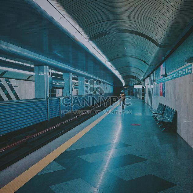 Alone passenger at subway station - Free image #363687