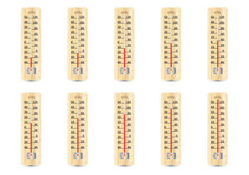 Wooden Thermometer - vector gratuit #363727