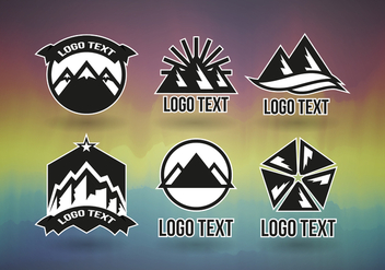 Montains Logos Professional Vector Free - Free vector #363807