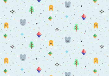 Playful Vector Pattern - vector #363817 gratis