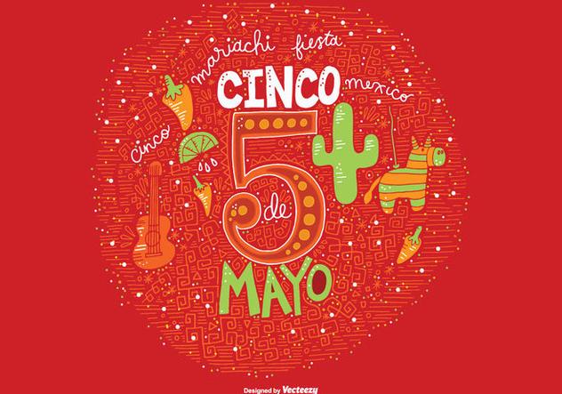 Hand Drawn Cinco De Mayo Vector - Free vector #363977