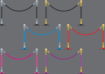 Velvet Ropes - vector gratuit #364037