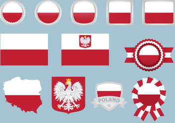 Poland Flags - vector gratuit #364057