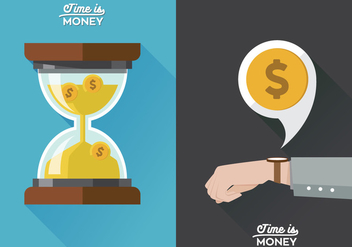 Vector Poster Time is Money - vector #364197 gratis