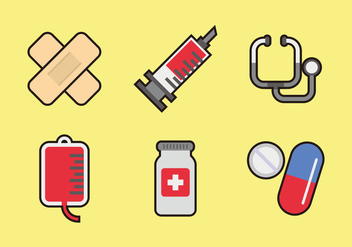 Medical Icons Vectors - vector gratuit #364257