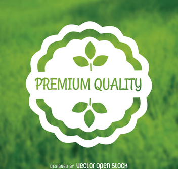 Premium quality sticker - бесплатный vector #364417
