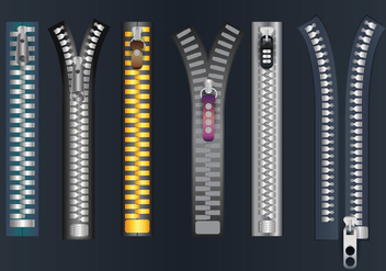 Zipper Pull Vector - Free vector #364617
