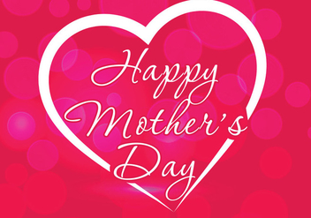 Mother's Day Background - vector #364667 gratis