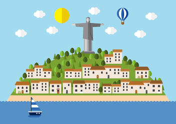 Vector Brasil City Landscape - Free vector #364687