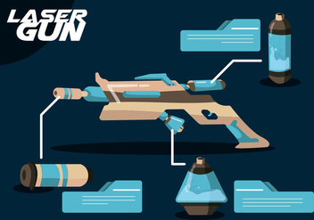 Laser Gun Vector Set - Free vector #364747