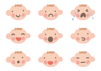 Baby Face Vectors - Free vector #364857