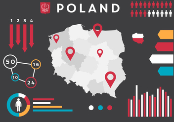 Poland Vector Infographics - бесплатный vector #364897