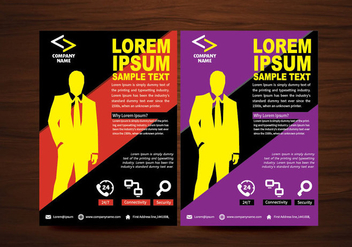 Vector Brochure Flyer design Layout template in A4 size - Kostenloses vector #365007