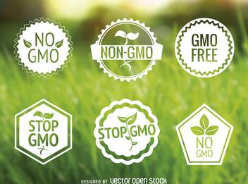 No GMO label set - бесплатный vector #365067