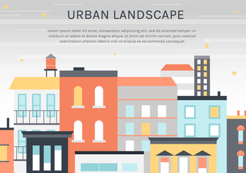 Free Flat Urban Landscape Vector Background - Kostenloses vector #365277