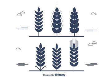 Wheat Stalk Vector - Free vector #365357