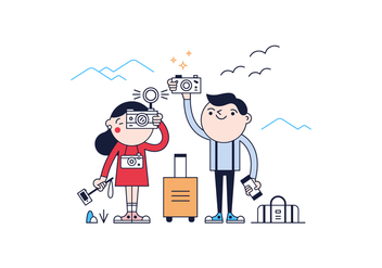 Free Tourists Vector - vector gratuit #365637