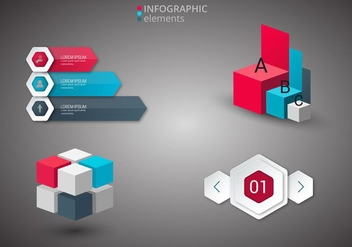 Free Infographics Elements Vector - vector #365647 gratis