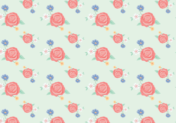 Vintage Flowers Pattern - Free vector #365797