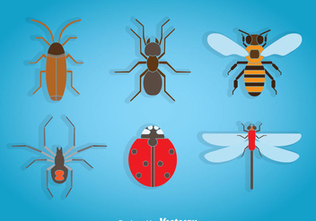 Insects Icons - vector #365907 gratis