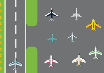 Free Airplanes Vector Pack - Kostenloses vector #366057