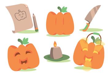 Fun Pumpkin Patch Vector Set - Free vector #366087
