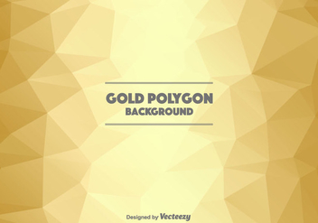 Gold Polygonal Background - Free vector #366427