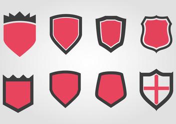 Free Wappen Shield Set Vector - Kostenloses vector #366557
