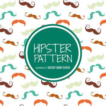 Hipster moustache pattern - Kostenloses vector #366647