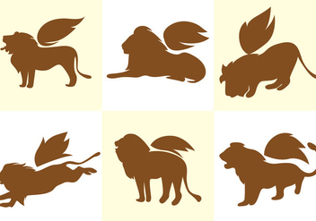Winged Lion Vector - vector gratuit #366797
