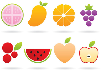 Fruit Logos - vector gratuit #366897