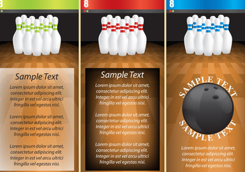 Bowling Alley Flyers - vector gratuit #366937