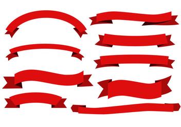 Free Red Ribbon Sash Vectors - Kostenloses vector #367027