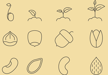 Seed Line Icons - vector gratuit #367167