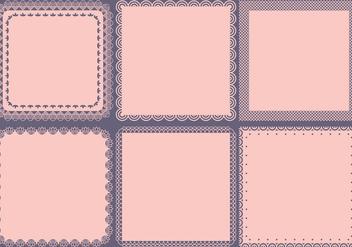 Vintage Square Frames - Free vector #367237