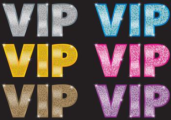 VIP Icon Vectors - Free vector #367337