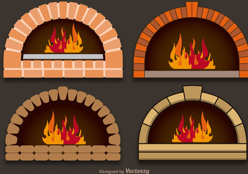 Vector pizza ovens - vector gratuit #367457