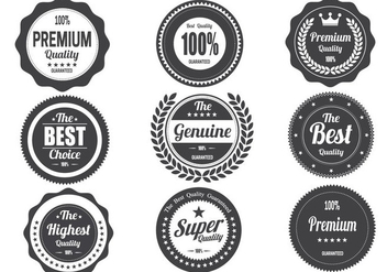 Free Retro Vintage Badges Vector - бесплатный vector #367537