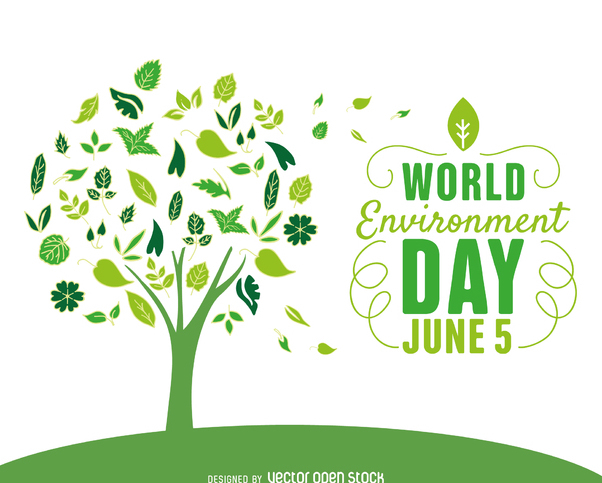 World environment day tree - vector gratuit #367577