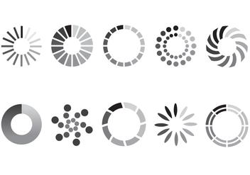 Preloader Vector Symbols - Kostenloses vector #367627