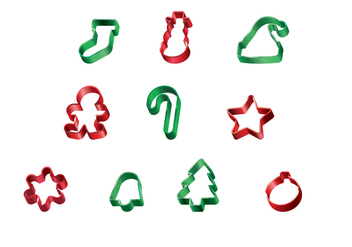 Free Christmas Cookie Cutter Vector - vector #367677 gratis