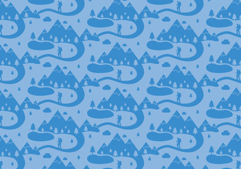 Mountain Landscape Pattern - Free vector #367717
