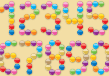 Smarties Number - vector gratuit #367747