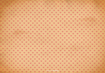 Old Shabby Heart Pattern Background - Free vector #367757